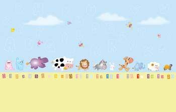 Bebek ve Çocuk Odası - Hayvanlar - Duvar Kağıdı