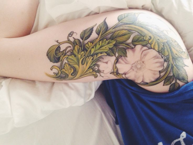 in progress: Wild Irish Rose tattoo by Kevin Dickinson @gurutattoos