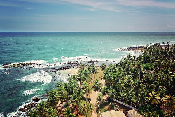 Ocean Beauty by Svetlana Yelkovan  View to the ocean from the lighthouse at the South point of Sri Lanka #SvetlanaYelkovanFineArtPhoto #SriLanka #ocean #ArtForHome #FineArtPrints #oceancoast