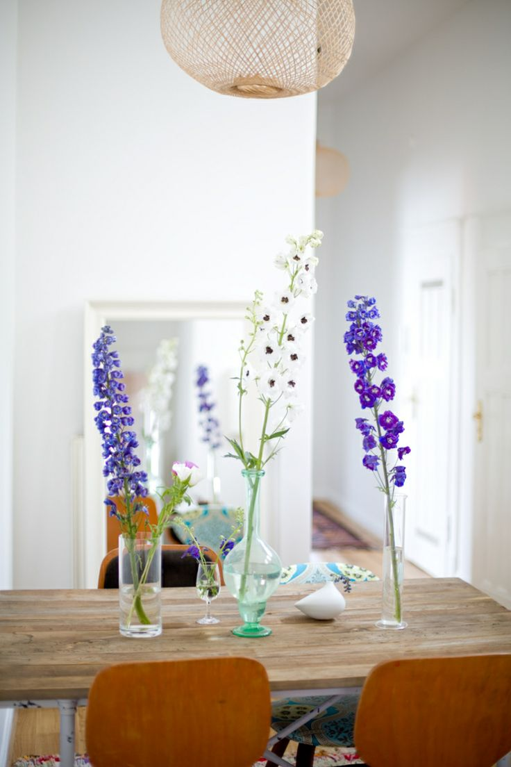Decorating With Delphiniums Blue/white/floral