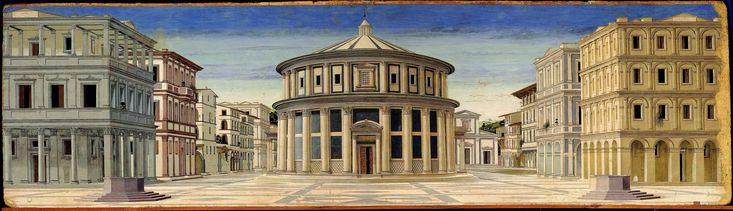 La Città ideale è un dipinto tempera su tavola (67,5x239,5 cm) di autore ignoto, databile tra il 1480 e il 1490 e conservato nella Galleria Nazionale delle Marche a Urbino