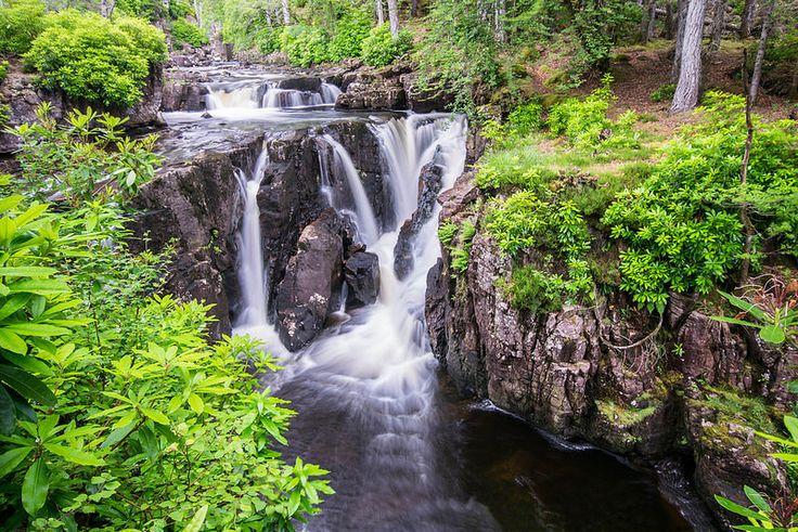 Waterfalls at Torridon. Wester Ross