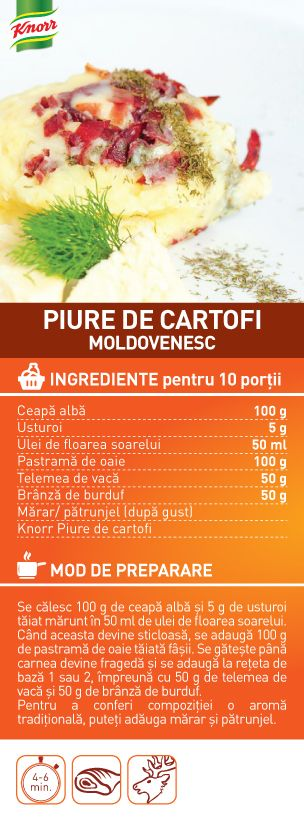 Piure de cartofi moldovenesc - RETETA