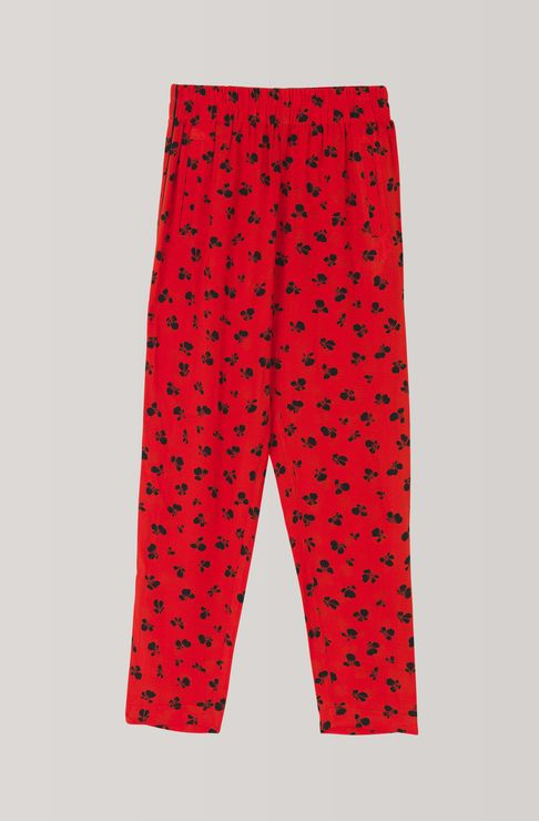 Emory Crepe Pants, Fiery Red