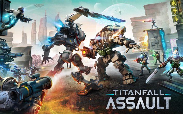 Descargar fondos de pantalla 4k, Titanfall Asalto de 2017, juegos, carteles, estrategia