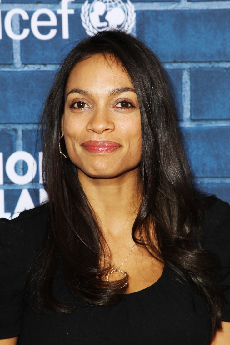 Rosario Dawson wearing Montblanc Star 4810 necklace and hoop earrings at the Montblanc 'Signature for Good' 2013 Charity Brunch in LA.