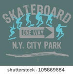 skateboard vector graphic