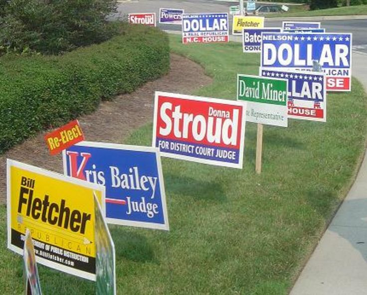 Political yard signs are a great tool for political campaigns!