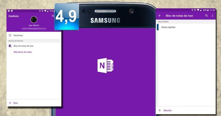 Aplicación de tomas de notas OneNote para dispositivos Android. Sencilla de utilizar y con amplias opciones para añadir datos