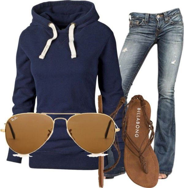 Hoodie and jeans