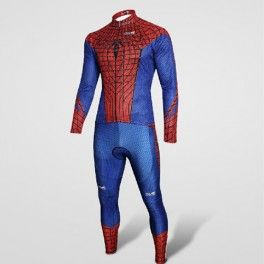 Hot Spider-Man Costume Cycling Long Jersey+Pants Kits/Suit