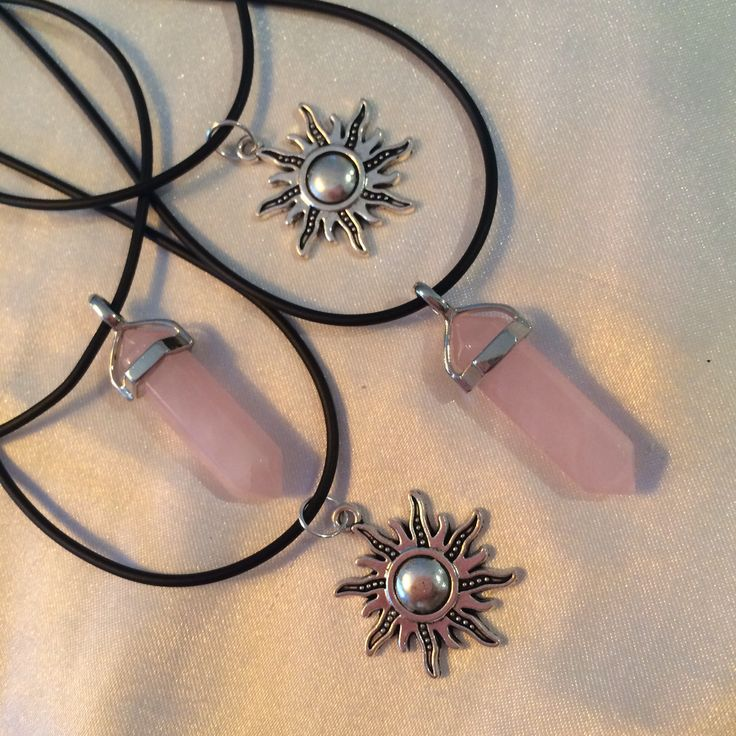 Solar charms and Rose Point pendants