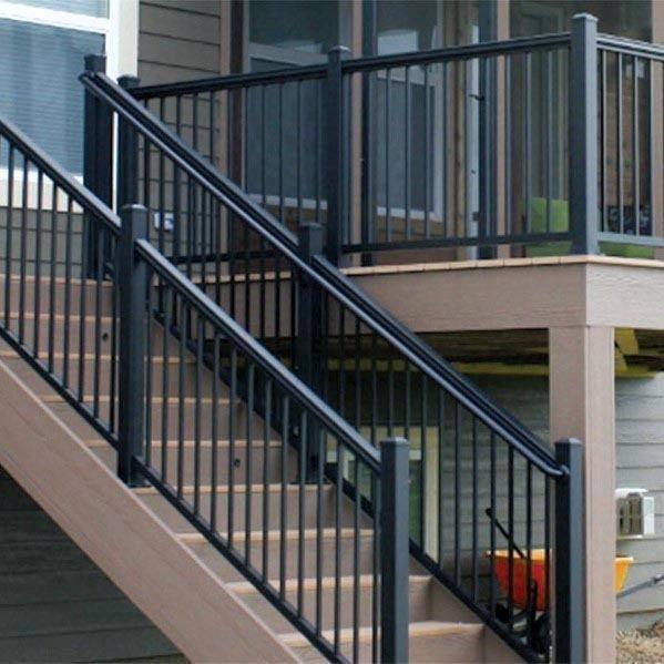 Top 50 Best Metal Deck Railing Ideas - Backyard Designs ...
