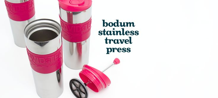 Bodum Stainless Travel Press by DavidsTea