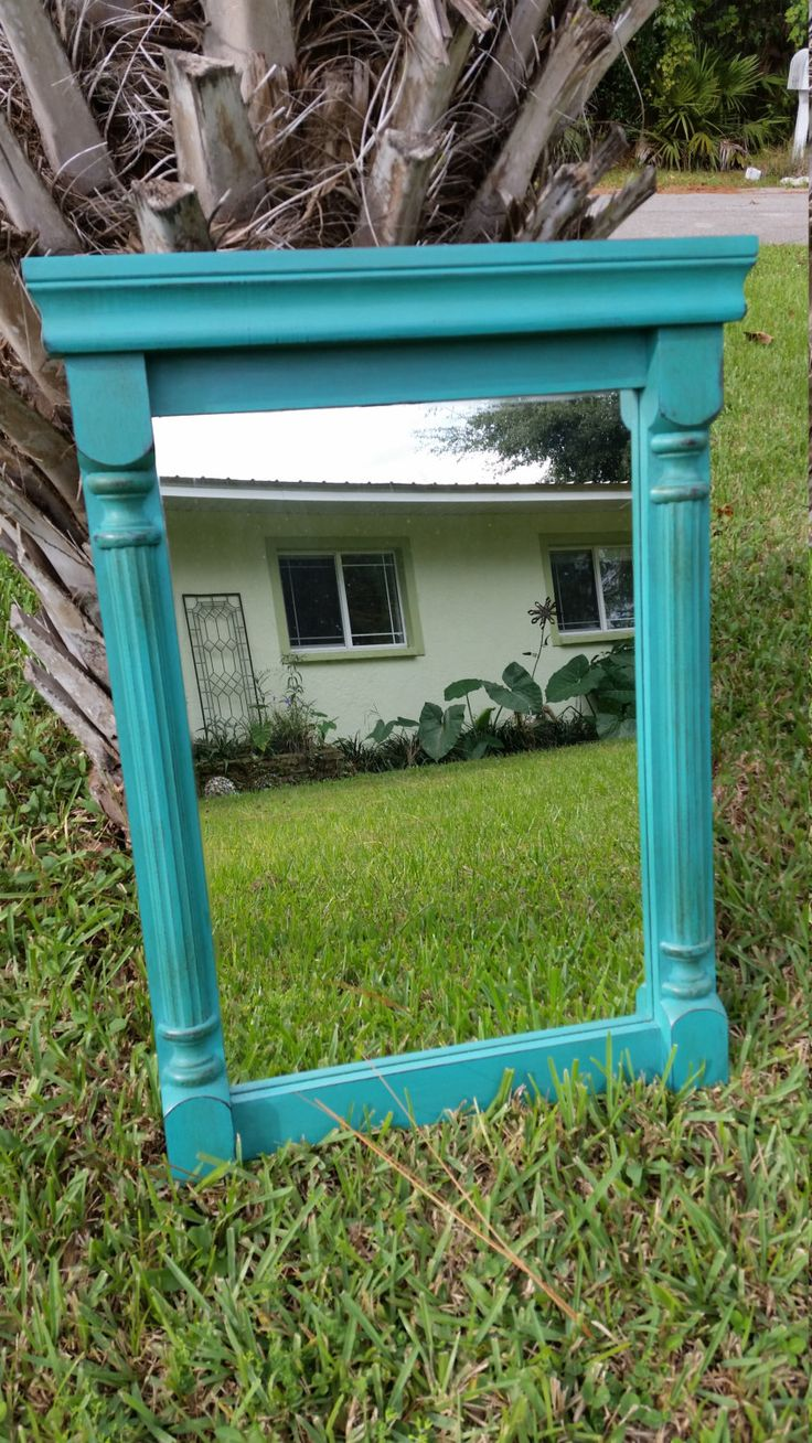 SOLD Small Colonial Mirror,Bohemian,Florence,Annie Sloan Chalk Paint by RightUpMyAlleyDesign on Etsy