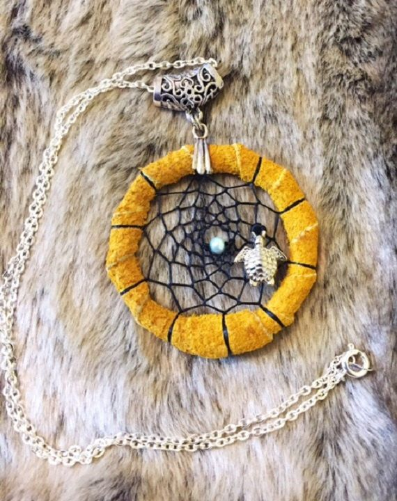 Dreamcatcher necklace with turtle charm and 18' chain by EarthDiverCreations on Etsy https://www.etsy.com/ca/listing/473743780/dreamcatcher-necklace-with-turtle-charm