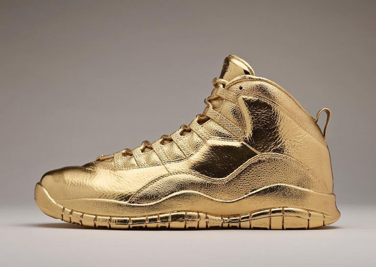 drakes air jordan 10 ovo is rendered in solid gold