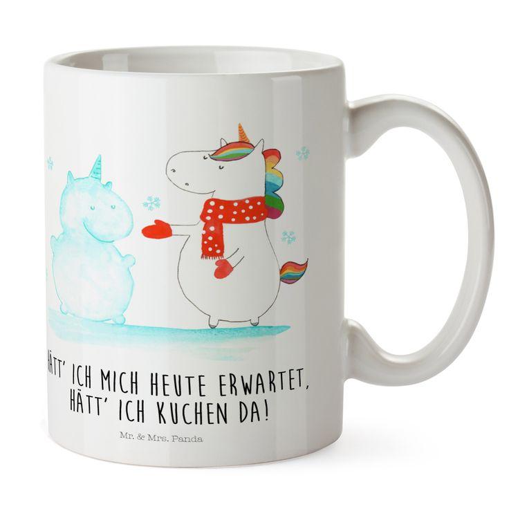Kunststoff Tasse Einhorn Schneemann aus Kunststoff  Weiß - Das Original von Mr. & Mrs. Panda.  Unsere Kunststoff Tasse sind einfach perfekt für Kinder oder für deinen nächsten Ausflug - wir empfehlen die Handwäsche für dieses besondere Produkte. Unsere bruchfesten Tassen haben eine Höhe von 90 mm und eine Breite von 80mm.    Über unser Motiv Einhorn Schneemann  Das Winter-Einhorn macht richtig Lust auf den ersten Schnee. Schon mal probiert, sich ein Ebenbild aus Schnee zu bauen? Dann wird es…