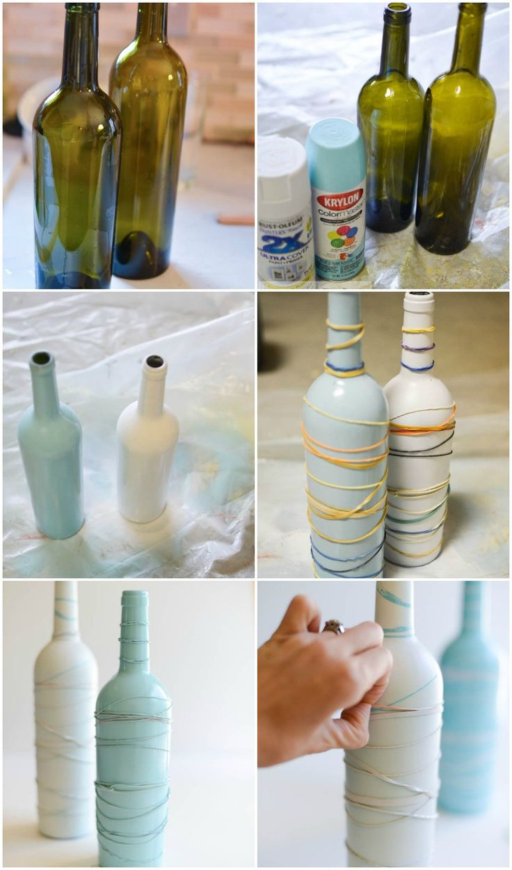 Gift Idea: Upcycled Wine Bottle Vases for Mom with Free Printable