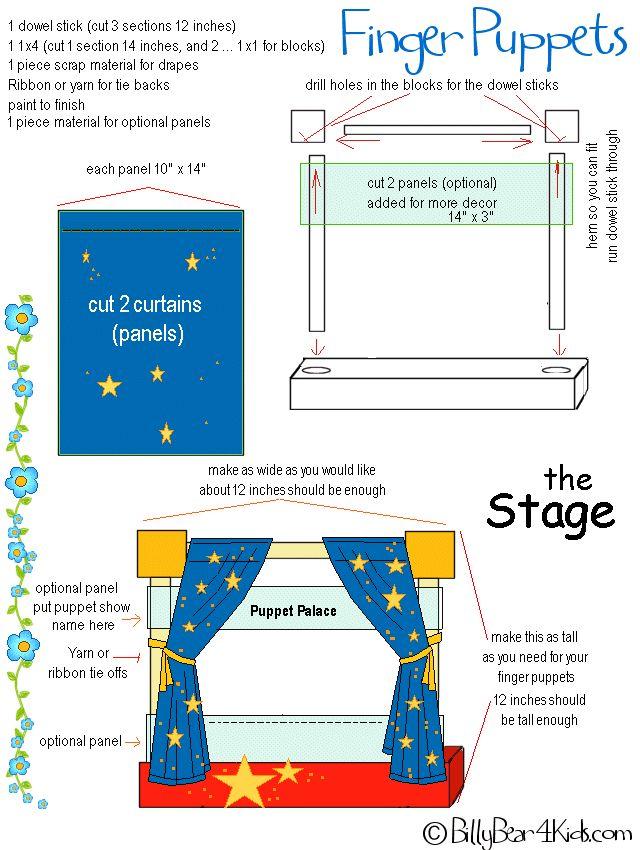 Escenario para títeres de dedo - Make a stage