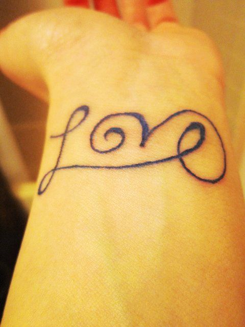 Cute Short Love Quote Tattoos for Girls - Black Short Love Quote Tattoos