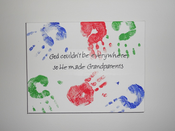 Grandparent canvas grandparents pinterest the o 39 jays for Homemade gifts from toddlers to grandparents