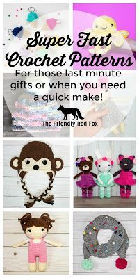 Quick Crochet Gifts- Perfect for when you need a last minute gift or just a fun breather from a big project! Most of these only take a day to complete!