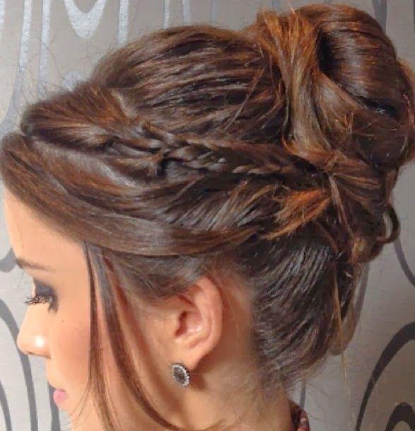 Penteados de festa: coques com trança e solto - Madrinhas de casamento