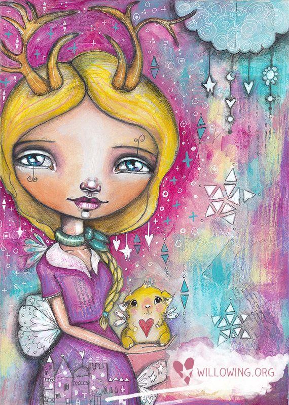 Guinea Pig Girl - Art Print