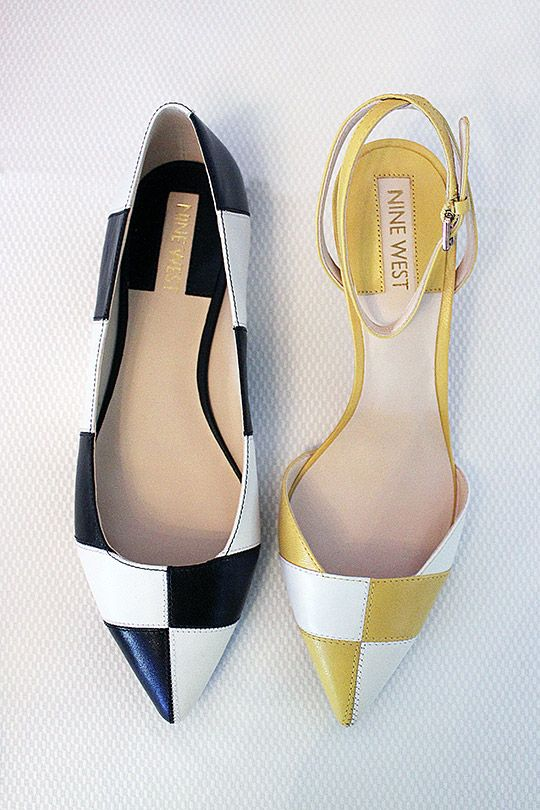 Collection Preview: Nine West Spring/Summer 2014 - Personally, I feel these almost define SS14, incorporating the monochrome print and the yellow