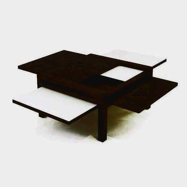 Table Basse Podium Plateau Pivotant Mdf Wenge Laque Blanc Table Basse Wenge Laque Blanche