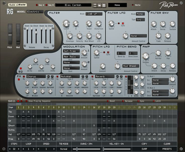 Rob Papen has released RG – his rhythm guitar groovebox instrument – as a Rack Extension for Propellerhead Reason.