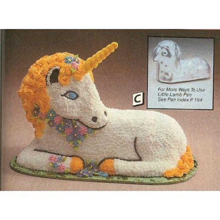 Unicorn Cake Uses 3d Lamb Pan Mold Cakes Pinterest