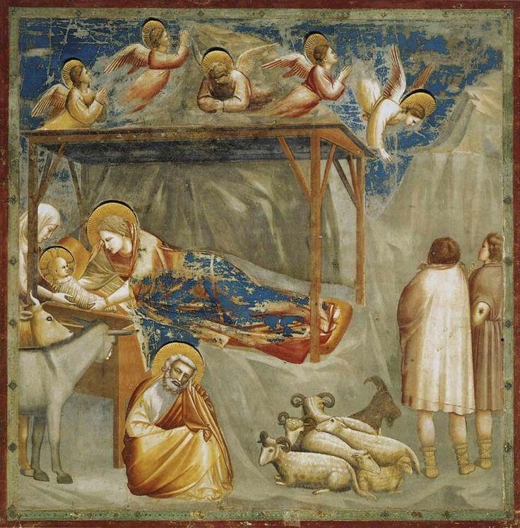 Particolare Storie di Gesù: Natività AutoreGiotto, Data1303-1305 circa, Tecnicaaffresco, Dimensioni200×185 cm, UbicazioneCappella degli Scrovegni, Padova