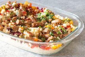 Recept: Couscous met granaatappel en worst