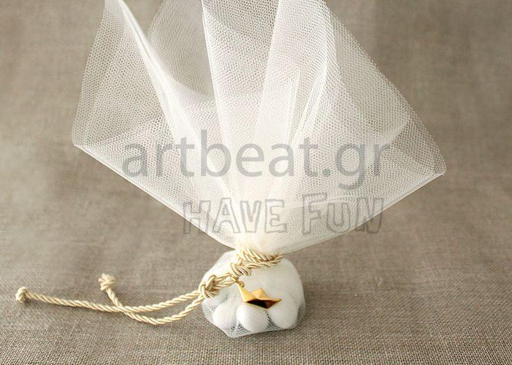 Ναυτική μπομπονιέρα γάμου, μπομπονιέρα μεταλλικό καραβάκι