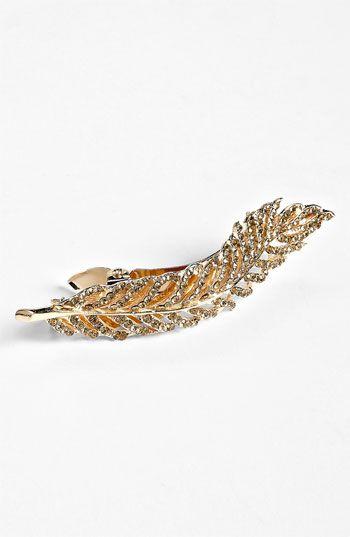 Tasha 'Feather' Crystal Hair Clip | #Nordstrom #weddings
