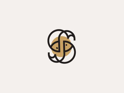 Sushi & Co logo design monogram
