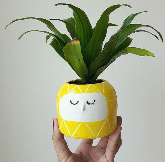 PINEAPPLE PLANTER  // Cute vessle, Wheel Thrown Pottery, Catch All, Ceramic Dish, Cactus Planter
