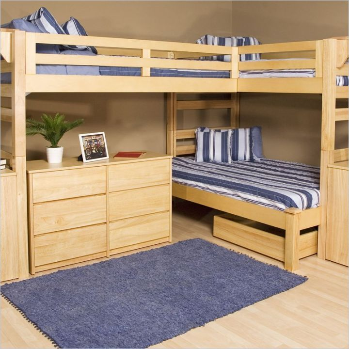 Expand Your Mind With Triple Bunk Beds For Kids - http://www.casperatiplc.com/triple-bunk-beds-for-kids/ : #BunkBeds Expand Your Mind With Triple Bunk Beds For Kids – Don't stop thinking at double. We can think about triple. What is the uniqueness? Can you imagine Triple Bunk Beds For Kids? This kids bedding is talk us about expanded concept from kids bunk bed. Triple mean this kids bedding have...