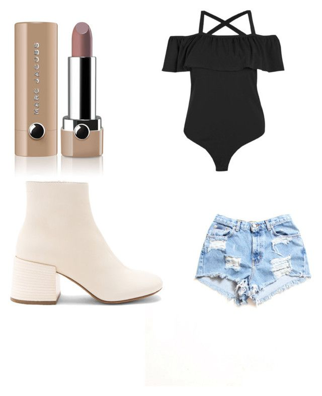 """look10"" by lucianatorrez on Polyvore featuring Dukes, MM6 Maison Margiela and Marc Jacobs"