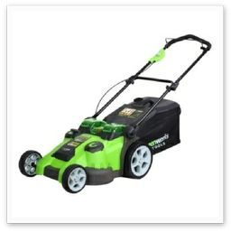 A modern cordless (rechargeable) lawn mower, ideal for giving you the freedom from a trailing mains cable... #Sheffield Lawnmower Dealers