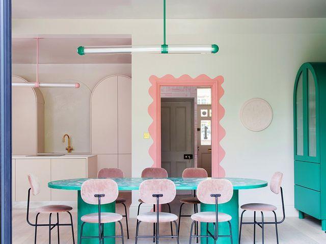 Flooring Options, Painted Doors, Innovation Design, Colorful Interiors, Interior Inspiration, Kitchen Design, Kitchen Interior, Room Decor, House Design