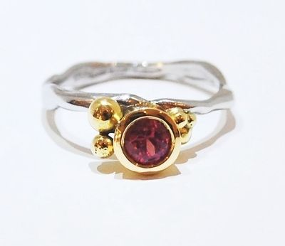 bespoke unique ruby engagement ring