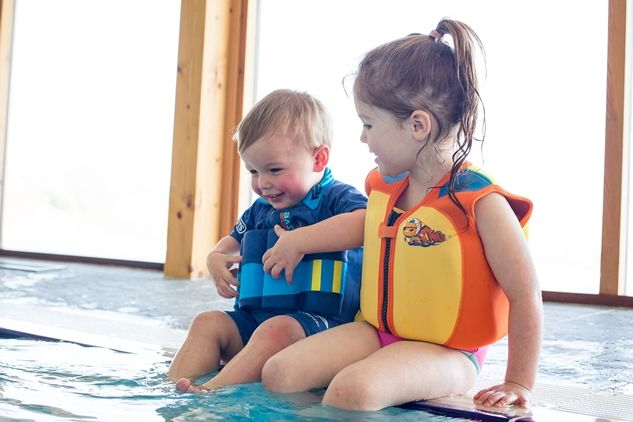 Octonauts-branded swimwear based on two of the show's most popular characters: a Captain Barnacles Floatsuit and a Lieutenant Kwazii Original Konfidence™ Jacket
