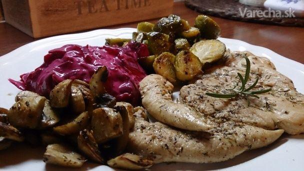 Zdravé kuře s růžičkovou kapustou a BETALAINOVÁ salátem