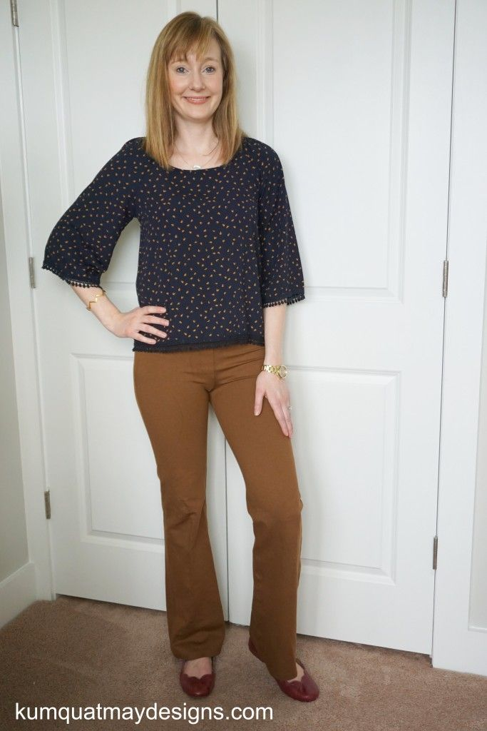 February 2016 Stitch Fix Le Lis Flit Crochet Detail Top Gorjana Chevron Bangle BetaBrand pants Ugg Australia flats