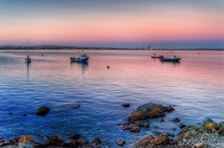 Saldanha bay view from Sandstone Lounge and Bar, West Coast, South Africa