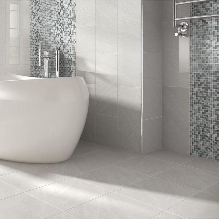 gray bathroom walls - 736×736