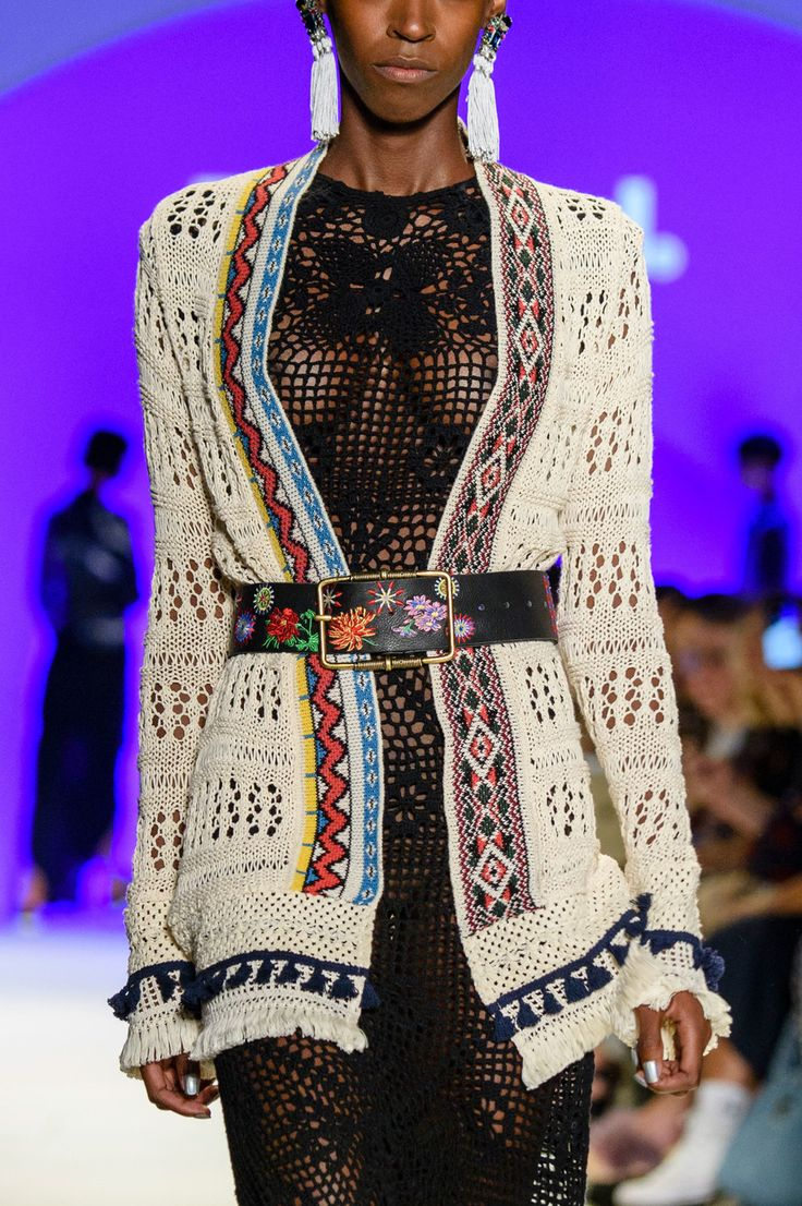 Desigual at New York Fashion Week Spring 2017 - (Details) Crochet Dress